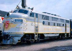 Bangor & Aroostook Railroad, EMD F3(A) freight- and passenger-hauling diesel-electric locomotive in Bangor, Maine, USA