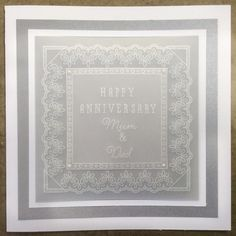 Anniversary Card Groovi card created by Barbara Gray Anniversary Crafts, Happy Anniversary, Vellum Crafts, Paper Crafts, Parents Day Cards, Hobbies And Crafts, Crafts To Make, Barbara Gray Blog, Parchment Cards
