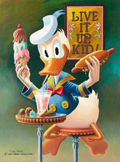 Donald Duck - Live It Up Kid by Carl Barks << ... I LOVE this duck!