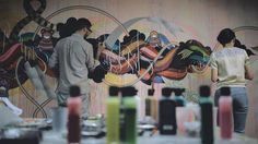 Mind blowing freehand wall art...mind blowing!