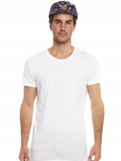 Overcrotch Tee in White