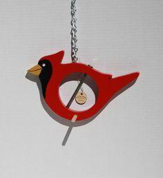 Cardinal  fruit or suet bird feeder by abirdthing on Etsy