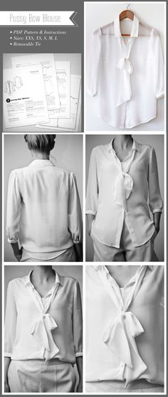 Pattern Runway - Sewing Patterns for the modern seamstress.: Pussy Bow Blouse Pattern,