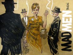 MAD MEN feat JOAN by urban-barbarian.deviantart.com on @deviantART