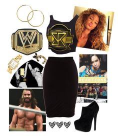 """Izzy ~ Ringside for Seth's match against Neville ♥"" by swaggwweforever ❤ liked on Polyvore featuring T By Alexander Wang, Melissa Odabash, Steve Madden and Charlotte Russe"