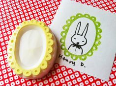 picture frame handmade rubber stamp. By Talk to the Sun on etsy.