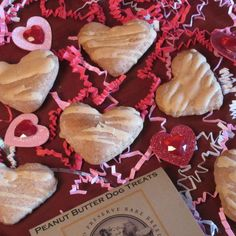 Valentine's Day can be celebrated with your pets too!  Show your pooch how much you love them when you give them a package of Valentine Treats for Dogs! This festive 6-pack of frosted peanut butter heart cookies will convince your canine pal that you only have eyes for him/her!  An all-natural and delicious way to celebrate the day with your favorite loyal and loving friend!