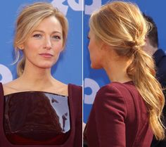 Blake Lively ponytail hairstyle