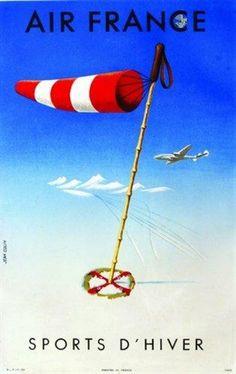 Air France Sports d'Hiver par Jean Colin - 1951 -