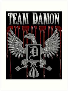 Team Damon Blood Crest | Inspired by the Vampire Diaries | All Prints Available As: Photographic Prints, Art Prints, Framed Prints, Canvas Prints, Metal Prints