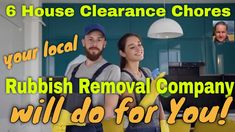 List of 6 House Clearance Chores your local rubbish removal company will do for you. Local waste skip companies will quote for labour emptying rooms etc.