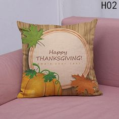 New Modern Thanksgiving Pumpkin Turkey Printing Cushion cover Linen Cotton Pillow Case Square 45*45cm Home textile product