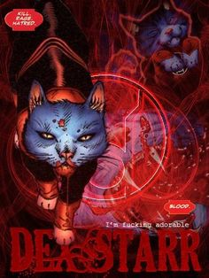 Red Lantern Corps - Dex Star - please compare to Blue Lantern Dog and marvel at the fittingness of it all - DC