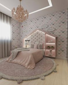 65 beautiful baby girl nursery room ideas 22 ~ Design And Decoration - Baby room Kids Bedroom Designs, Cute Bedroom Ideas, Cute Room Decor, Room Ideas Bedroom, Kids Room Design, Baby Room Decor, Girls Bedroom, Bedroom Decor, Nursery Room