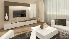 Návrh moderního interiéru v rodinném domku - MK arch Tv Unit, Window Coverings, Interior Design Living Room, New Homes, Contemporary, Bedroom, Inspiration, Home Decor, Budget