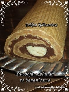 Preukusna oblanda, za sve ljubitelje oblandi. Bosnian Recipes, Kolaci I Torte, Nutella Recipes, Bakery Cakes, Sweet Cakes, Dessert Recipes, Desserts, Cake Cookies, Baked Potato