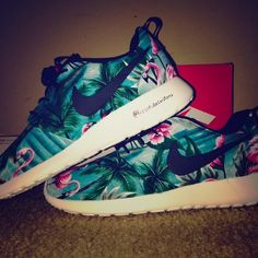 Custom roshes Custom flamingo roshes I can do more than that just text me with more info on what you want at 239-823-9207 Nike Shoes