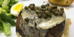 Bife com molho de pimenta verde