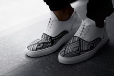 FILLING PIECES – FW'14 MOUNTAIN CUT WIRE WOVEN LEATHER SNEAKERS #fillingpieces #mountaincut #sneakers #amsterdam