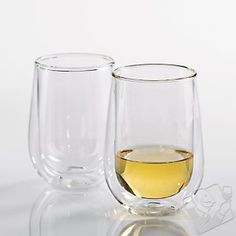 Insulated stemless glasses.  @ Wine Enthusiast - $14.99