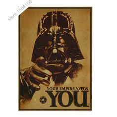 Retro Kraft Paper Poster Star Wars Poster Retro art Wall home Decoration 30X42CM Movie poster Wall stickers