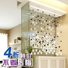 cortinas con abalorios de cristal - Buscar con Google