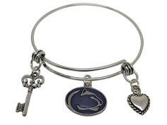 Penn State Charm Bangle Bracelet
