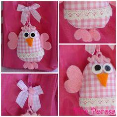 Chicken backpack fabric and felt / Mochila con pollo de tela y fieltro