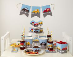 Car themed birthday party with FREE PRINTABLES via Kara's Party Ideas KarasPartyIdeas.com Printables, cake, banners, favors, food, and more! #carparty #freeprintables (2)