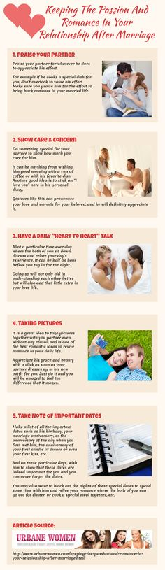Keeping The Passion And Romance In Your Relationship After Marriage [Infographic]