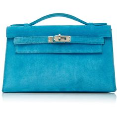 Heritage Auctions Special Collections Hermès Turquoise Veau Doblis... ($11,800) ❤ liked on Polyvore featuring bags, handbags, blue, turquoise handbag, suede handbags, hermes bag, suede leather handbags and hermès
