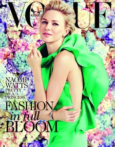 Naomi Watts Sizzles In Emerald Gucci Gown For Vogue Australia Cover - Entertainmentwise