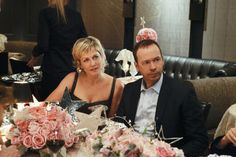 Amy Carlson (Linda Reagan) and Donnie Wahlberg (Detective Danny Reagan) in Blue Bloods Amy Carlson, Blue Bloods Tv Show, Sami Gayle, Blood Photos, Donnie Wahlberg, Sweet 16 Dresses, Great Tv Shows, Family Affair, It Goes On