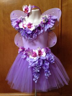 Girls Fairy Costume the Orchid Fairy by EnchantinglyQuirky