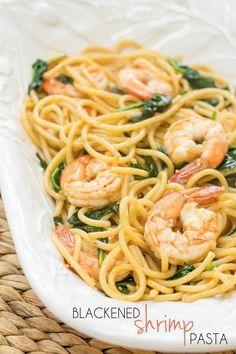 Blackened Shrimp Pasta Pinterest