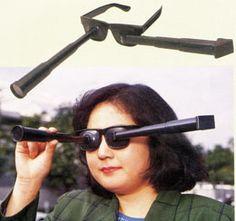 Forward-backward telescopic spectacles.
