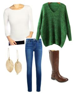 """""""Capsule wardrobe outfit 2"""" by megganb1983 on Polyvore featuring Kosher Casual, Paige Denim, Lulu*s and Bussola"""