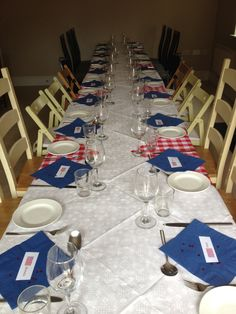 American diner themed supper club table for 20