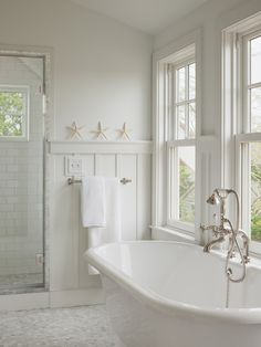 Board and Batten Wainscoting, Cottage, Bathroom, Sophie Metz Design