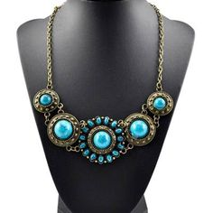Gorgeous Blue Sunflower Bib Necklace Just $5.99 SHIPPED! - http://couponingforfreebies.com/gorgeous-blue-sunflower-bib-necklace-just-5-99-shipped/