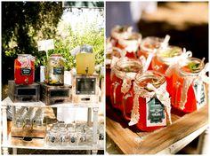 Highland Springs Resort Reception. Custom made reception drinks, rustic jars, lavender lemonade, mason jars. Reception Decor, Spring Wedding. Brady Puryear Photography