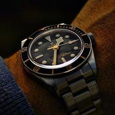 Men's Watches, Luxury Watches, Cool Watches, Watches For Men, Tudor Heritage Black Bay, Tudor Black Bay, Watch Companies, Watch Brands, Tudor Bronze