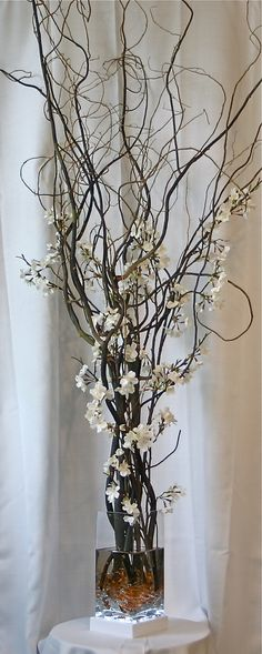 60 Asian Inspired Floral Arrangement with Orchids by ShabbyLamps