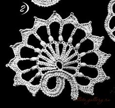 irish crochet motif charts | Irish crochet arched flow motifs