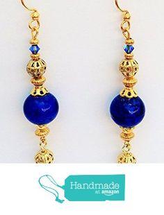 Swarovski Crystal Earrings, Blue Gold, Earrings Handmade, Pendant Necklace, Drop Earrings, Amazon, Jewelry, Amazons, Jewlery