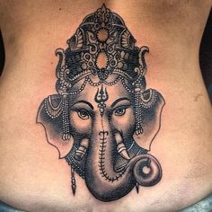 f You Think Ganesha Tattoos are Boring Then These 16 Pictures Will Change Your Mind Ganesha Tattoos, Hindu Tattoos, Buddha Tattoos, Symbol Tattoos, Ganesha Tattoo Thigh, Ganesha Tattoo Sleeve, Tattoo Forearm, Yoga Tattoos, Body Art Tattoos