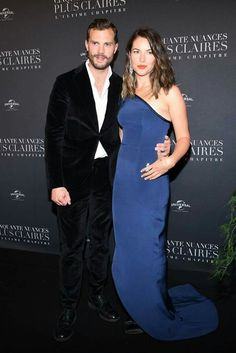 """and his wife Amelia Warner attend """"Fifty Shades Freed - 50 Nuances Plus Claires"""" Premiere at Salle Pleyel on February 2018 in Paris, France. - 39 of 86 Jamie Dornan And Wife, Jaime Dornan, Mr Grey, Evolution Of Fashion, Fifty Shades Trilogy, Hot Couples, Hollywood, Shades Of Grey, 50 Shades"""