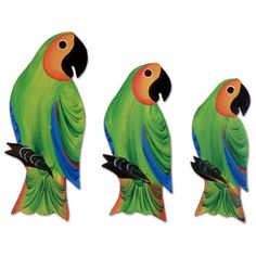 NOVICA Wood wall adornments (Set of 3) (390 MAD) ❤ liked on Polyvore featuring home, home decor, wall art, birds, animals, green, filler, wall accents, wall decor and motivational wall art