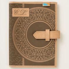 Shop Monogram Elegant Medallion Leather Journal created by BlueRose_Design. Moleskine Notebook, Journal Notebook, Leather Travel Journal, Leather Accessories, Worlds Of Fun, Apple Ipad, Cow Leather, Ipad Mini, Saddle Bags