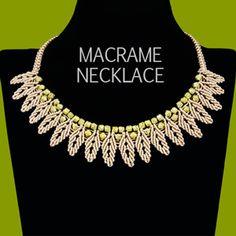 Macrame Petal Chain Necklace